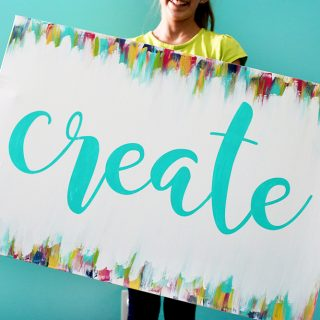 Diy craft room canvas decor