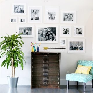 Diy gallery wall white frames