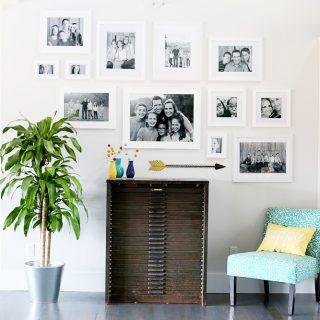 Diy gallery wall white frames
