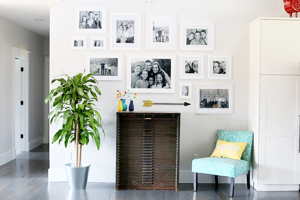 White Frame Gallery Wall - Sugar Bee Crafts
