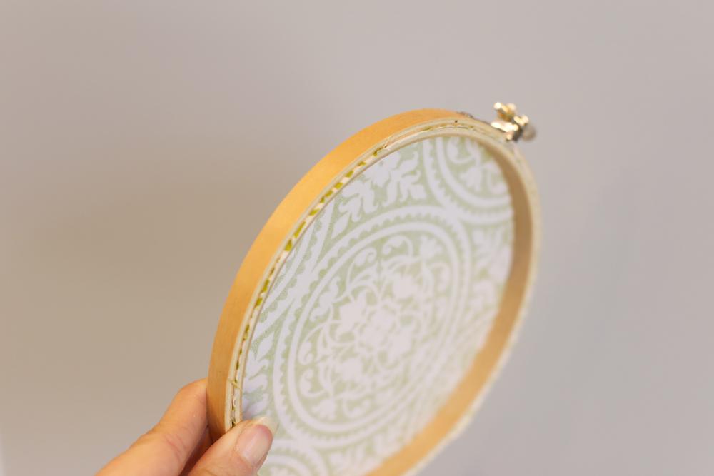 fabric hoop wall decor