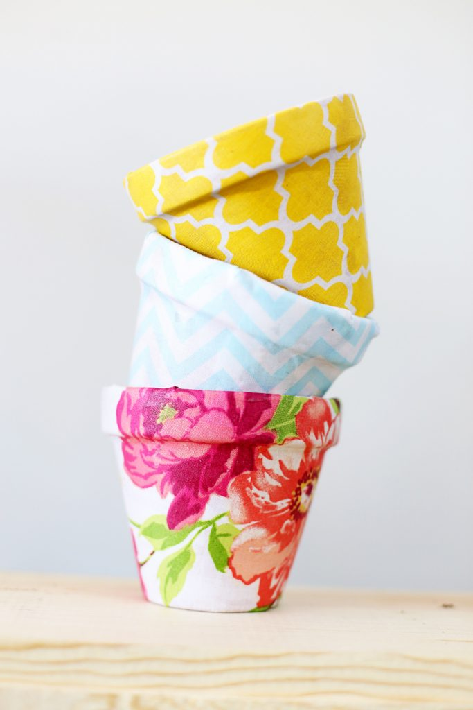 fabric pots stack
