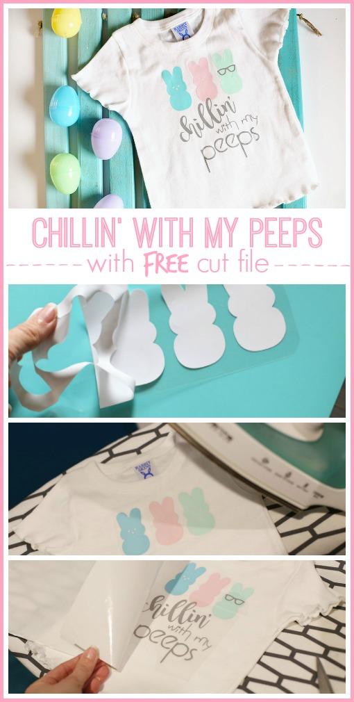 free peeps hanging chilling cut file