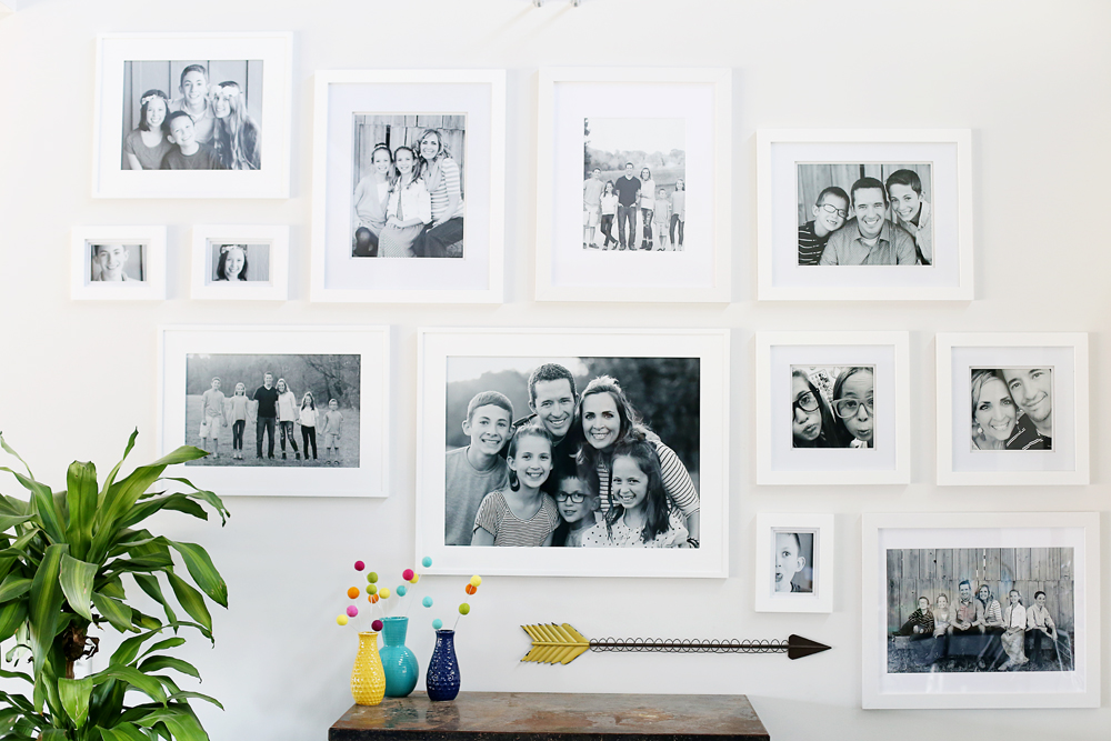 White Wall Frames white frame gallery wall - sugar bee crafts
