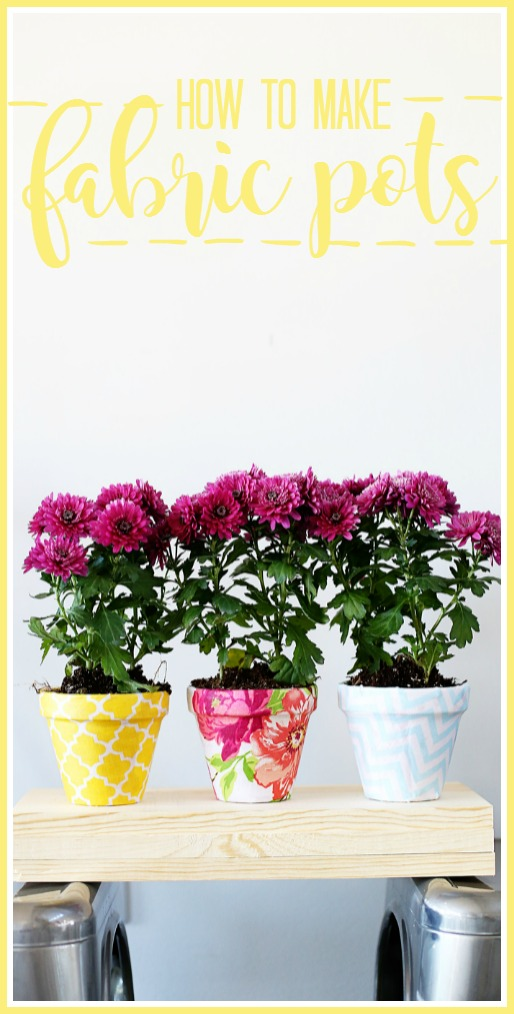 how to make fabric flower pots diy craft