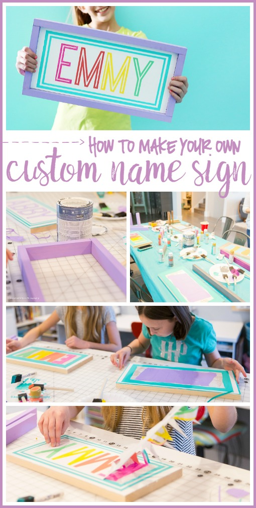 how to make your own custom name sign