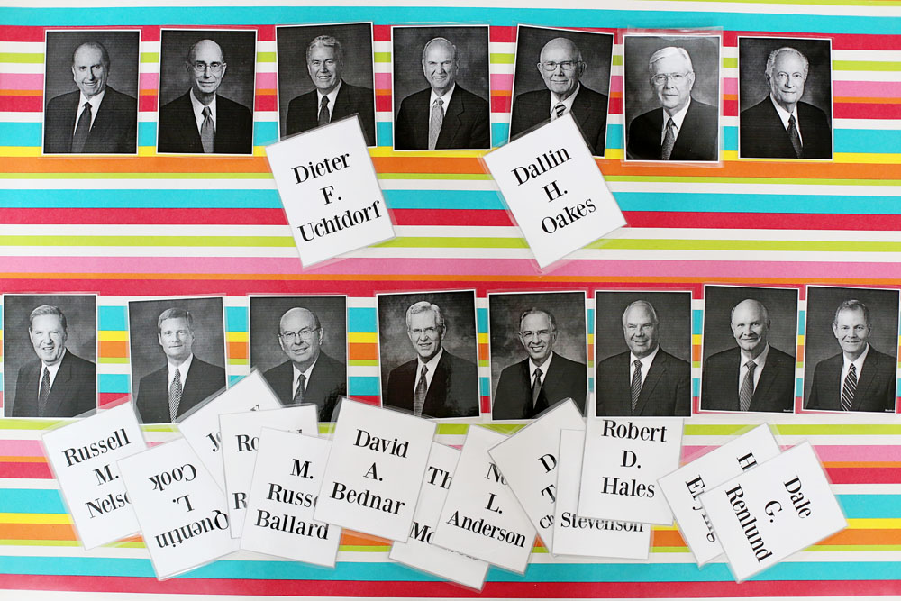 lds leaders matching game