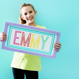 make your own name sign tween room decor