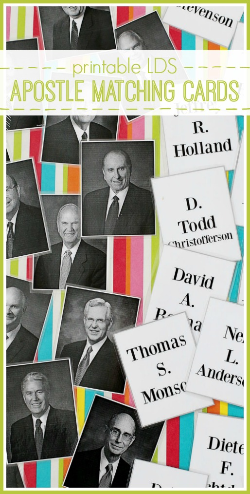 printable lds apostle matching cards conference games