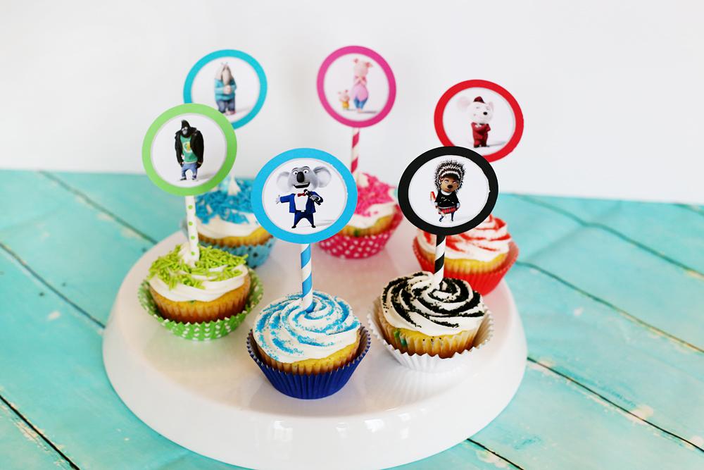 sing diy cupcake toppers