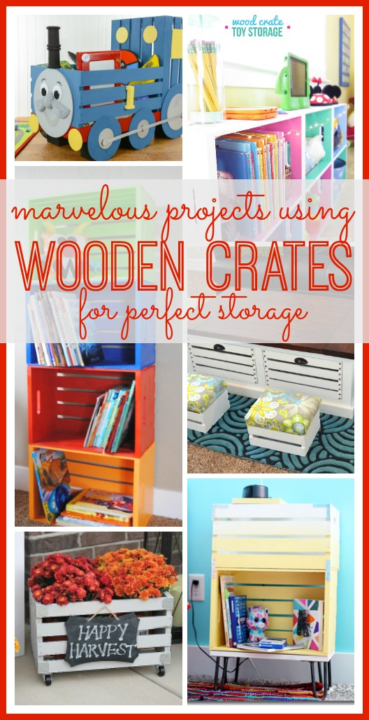 Wooden Crate Storage