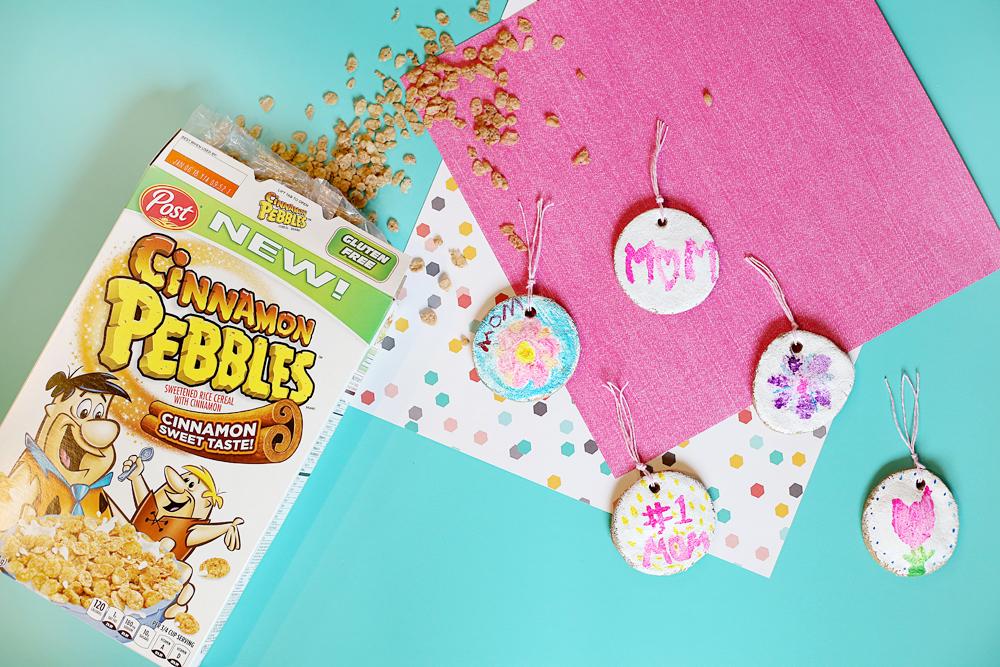 cinnamon salt dough gift tags pebbles craft idea