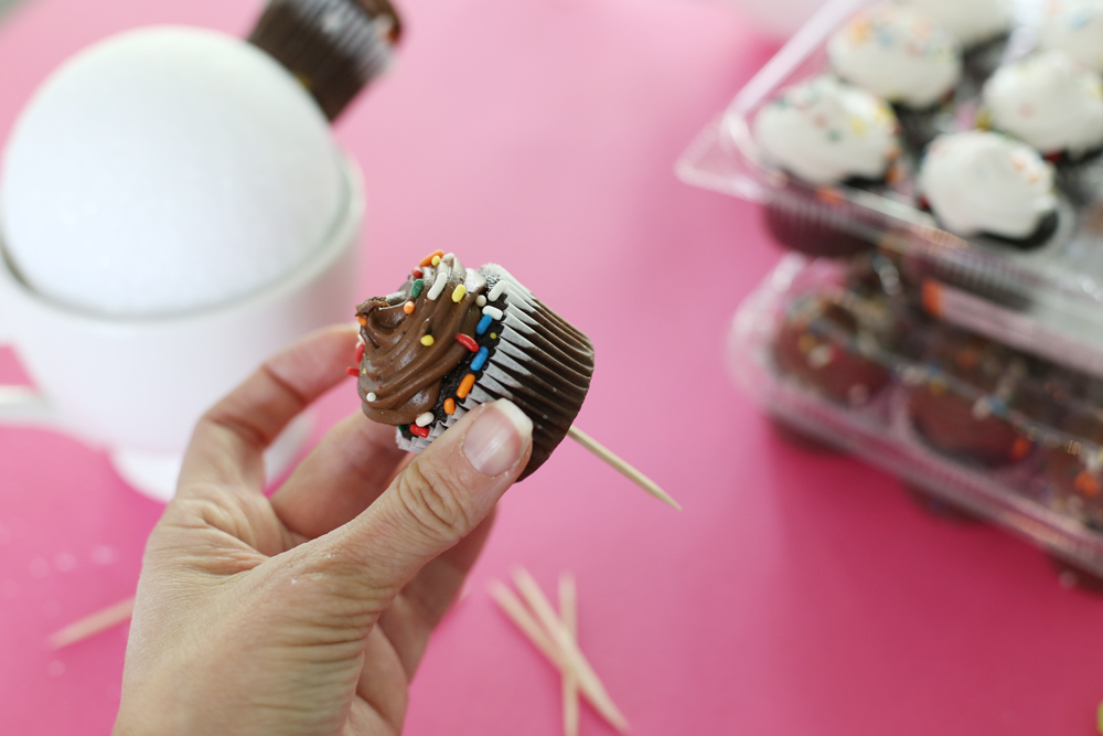 cupcake on a toothpick