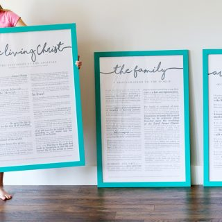 LDS Prints, Painted Poster Frames
