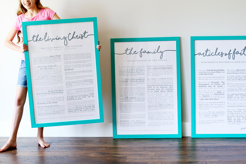 living christ family proclamation large prints modern
