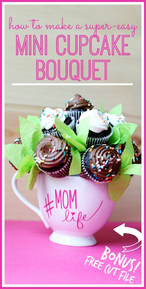 mini cupcake bouquet cut file