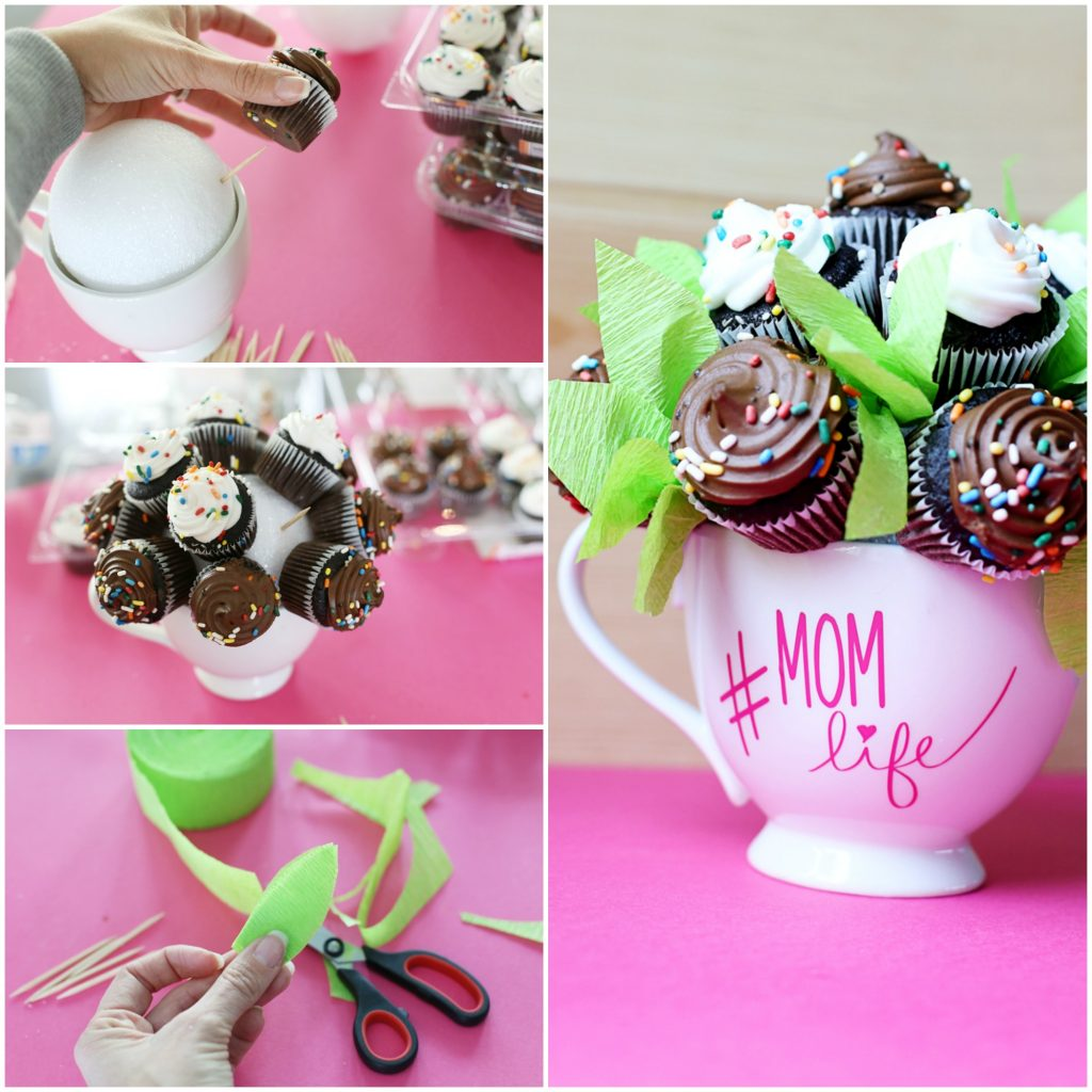 mini mug cupcake diy gift idea