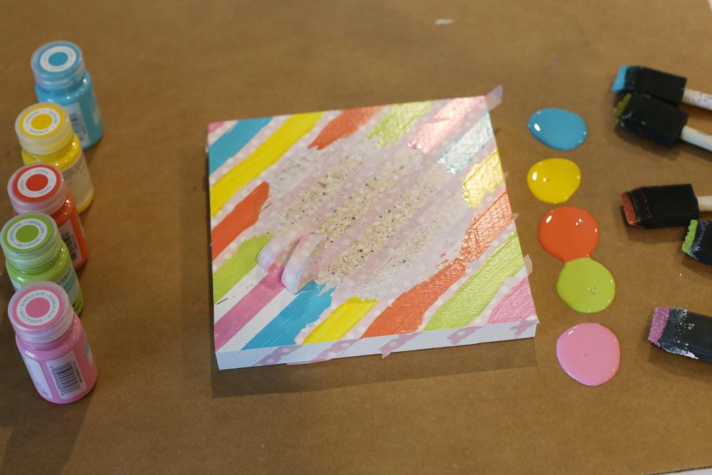 washi tape paint stripes