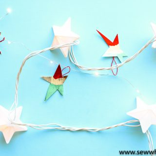 Easy no sew star ornament tutorial 13