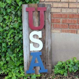 Usa reclaimed wood sign 2