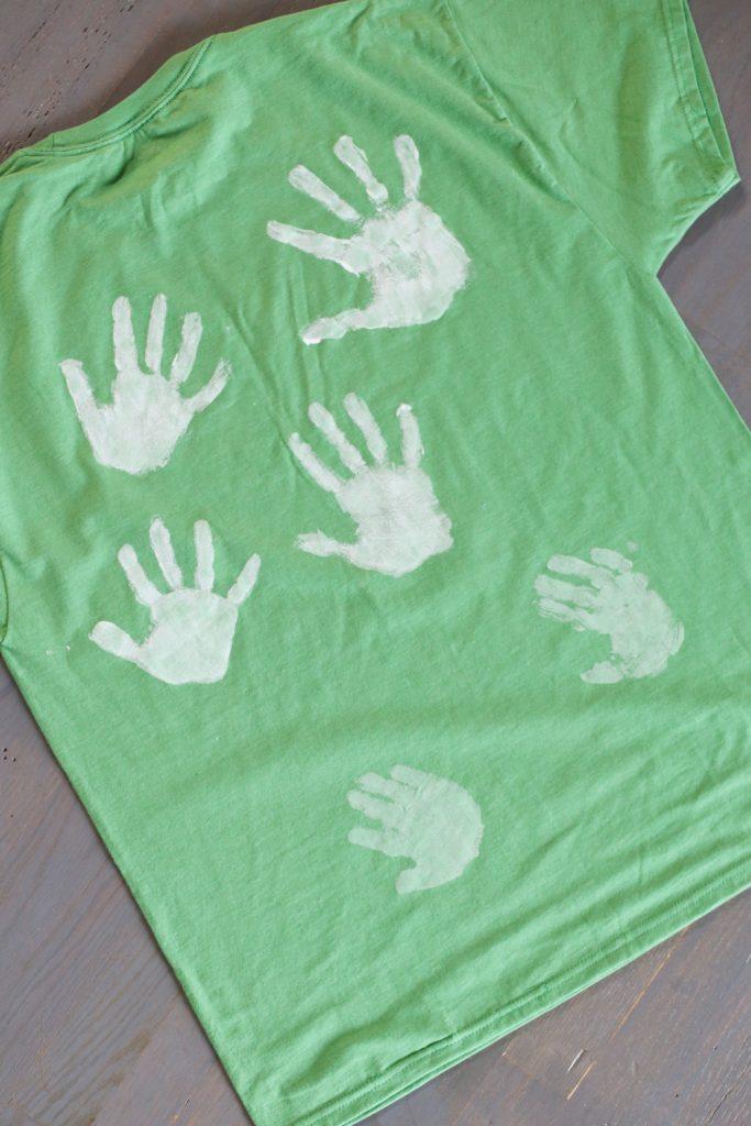 handprints on a tshirt