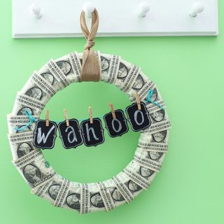 Money wreath gift idea