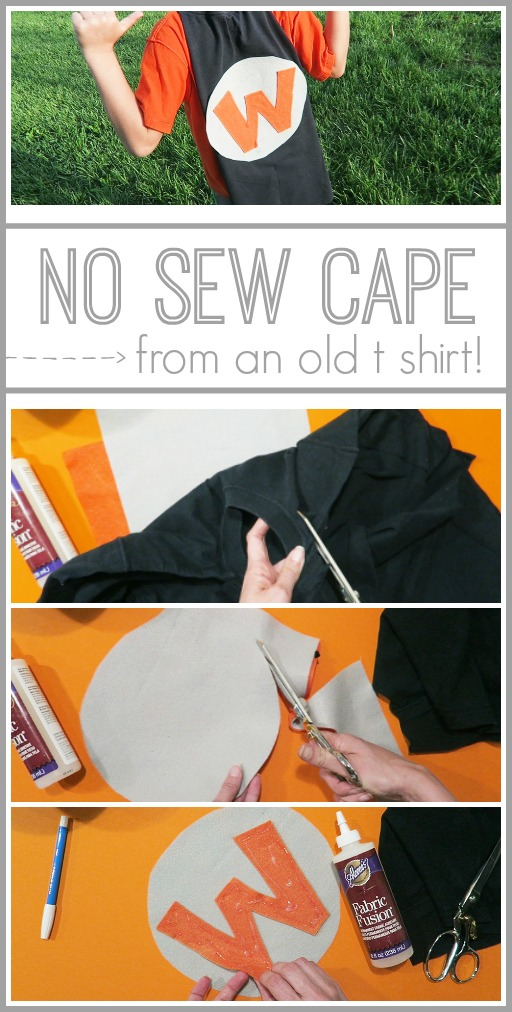 no sew cape from tshirt diy