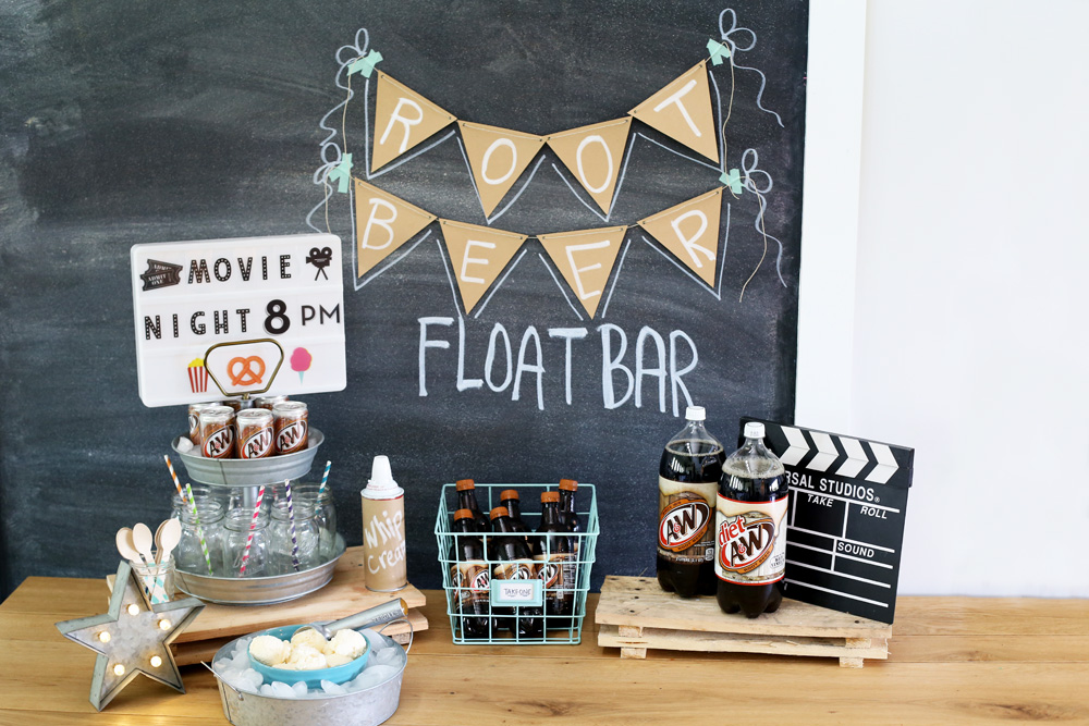 Root Beer Float Bar – Movie Night!