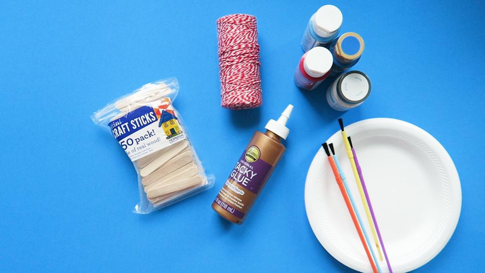 craft stick star supplies