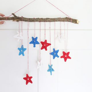 Craft stick stars diy project