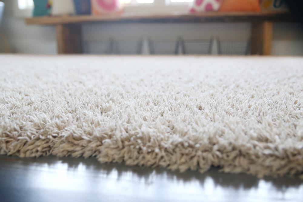 fluffed carpet