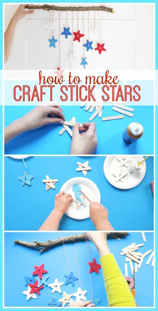 how to make craft stick stars