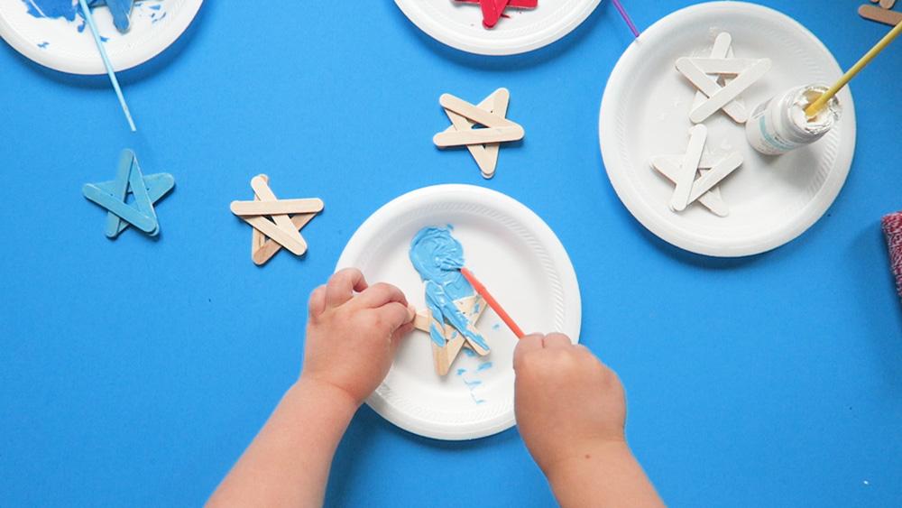painting craft stick star