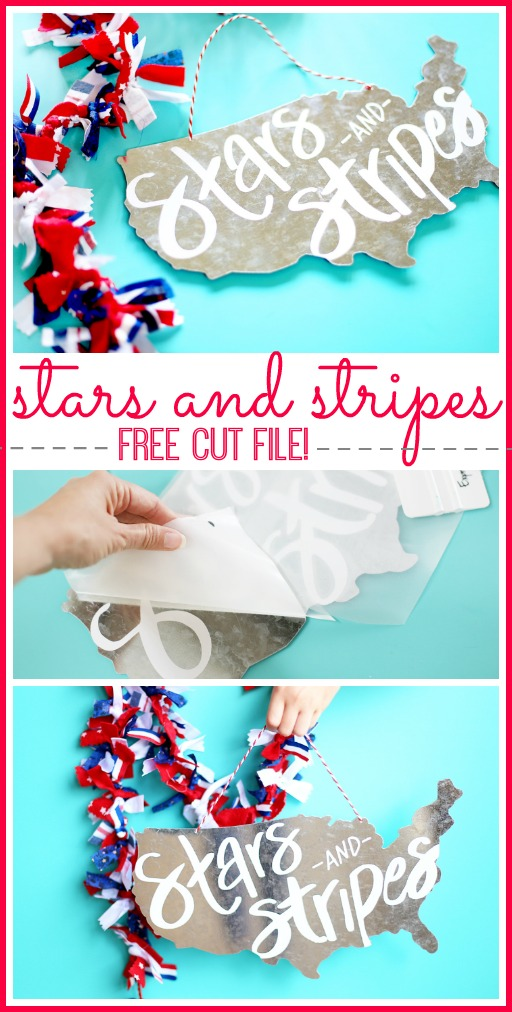 stars and stripes free cut file silhouette vinyl