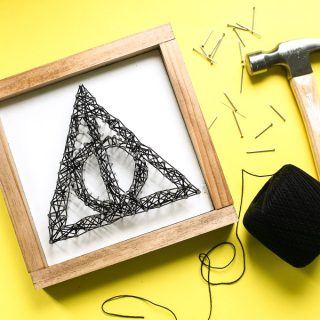 Deathly hallows string art 4