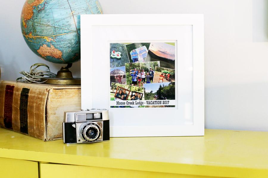 framed collage diy pse