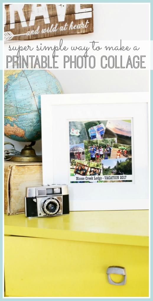how to make a printable photo collage