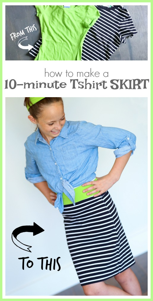 how to make a skirt from a tshirt