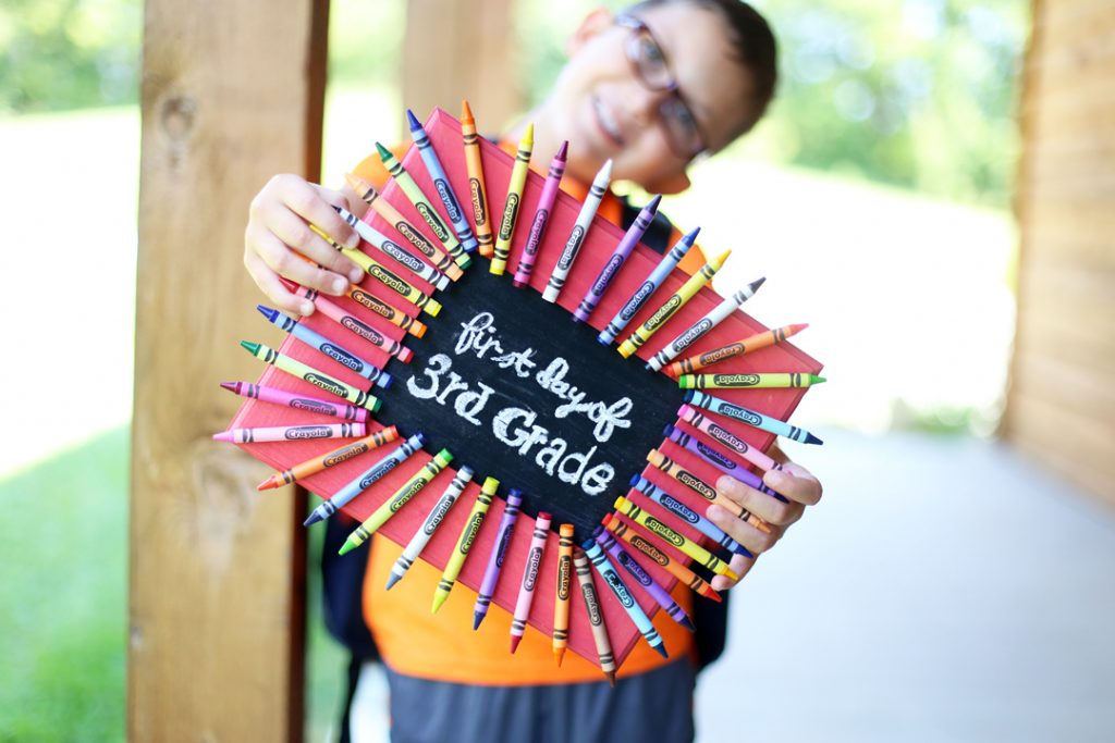 First Day of School Chalkboard Frame Sign