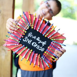 Back to school craft frame idea