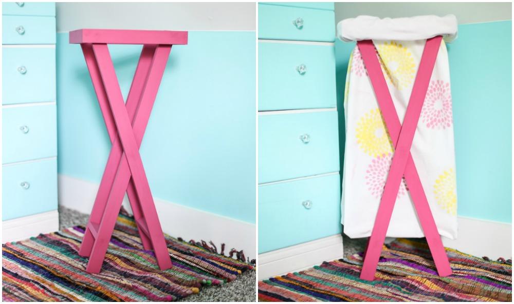 Diy laundry hamper sugar bee crafts diy laundry hamper tutorial solutioingenieria Choice Image