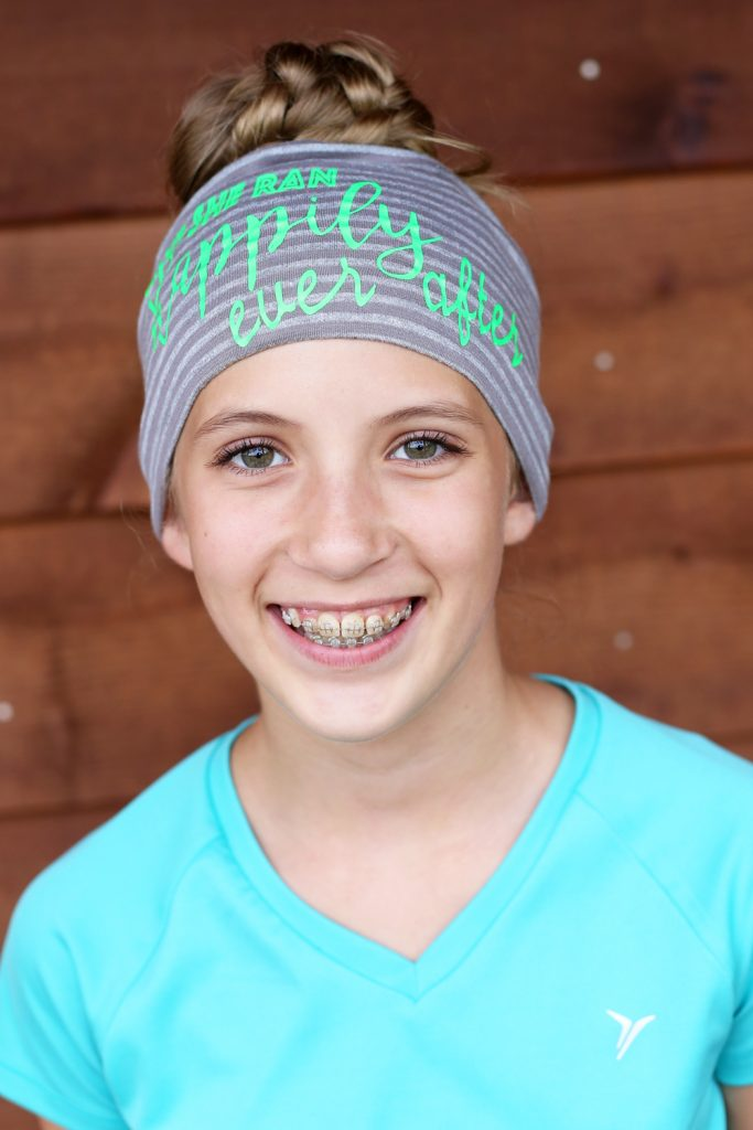 girls running headband motivational