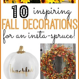 Fall Decor For an Insta-spruce!