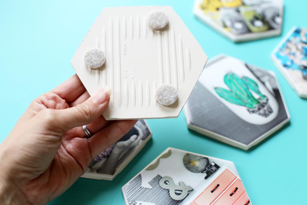 coasters tile felt diy