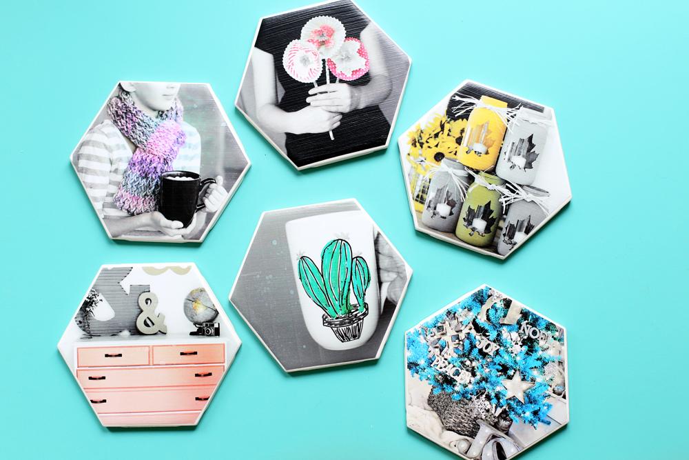 Hexagon Photo Coasters