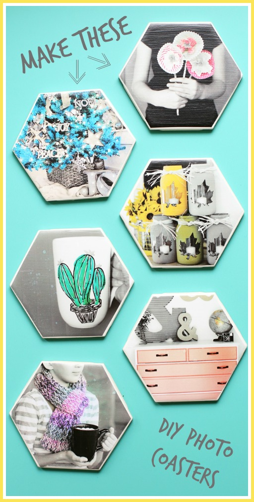 diy photo coasters craft how to