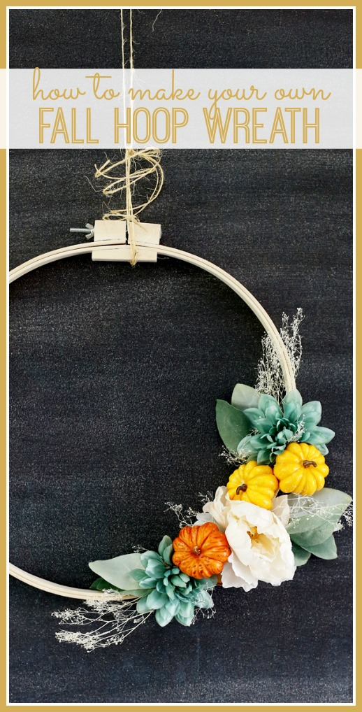 make your own fall hoop wreath