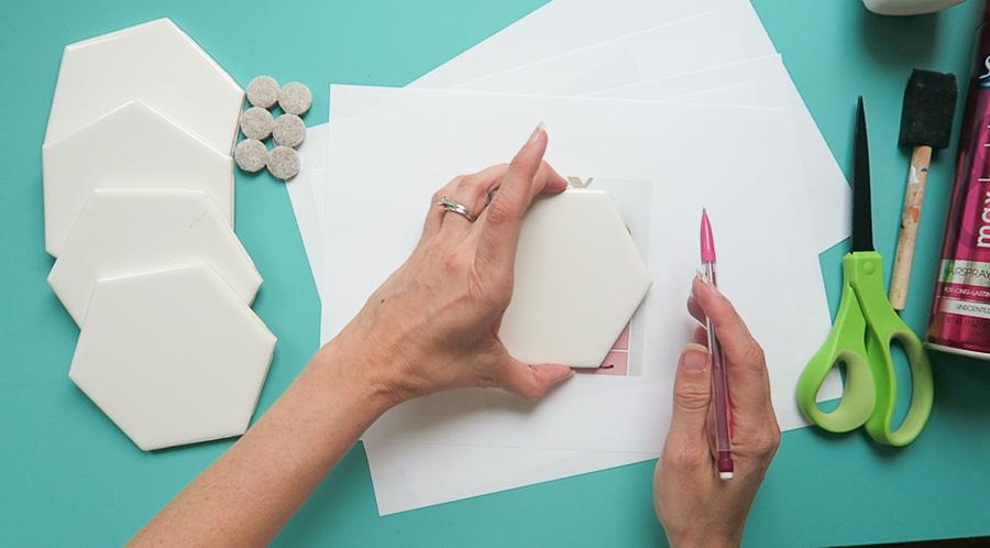 photo coaster tile craft-1