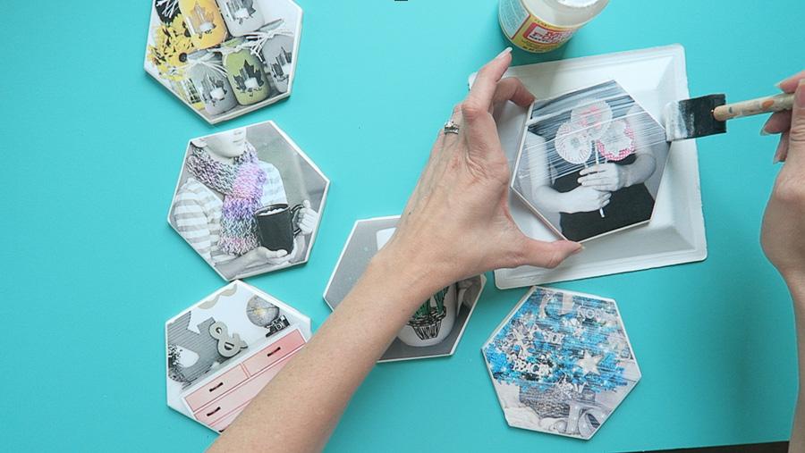 photo coaster tile craft-5