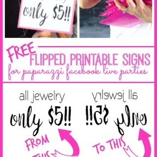 reverse flipped printable signs paparazzi online facebook party